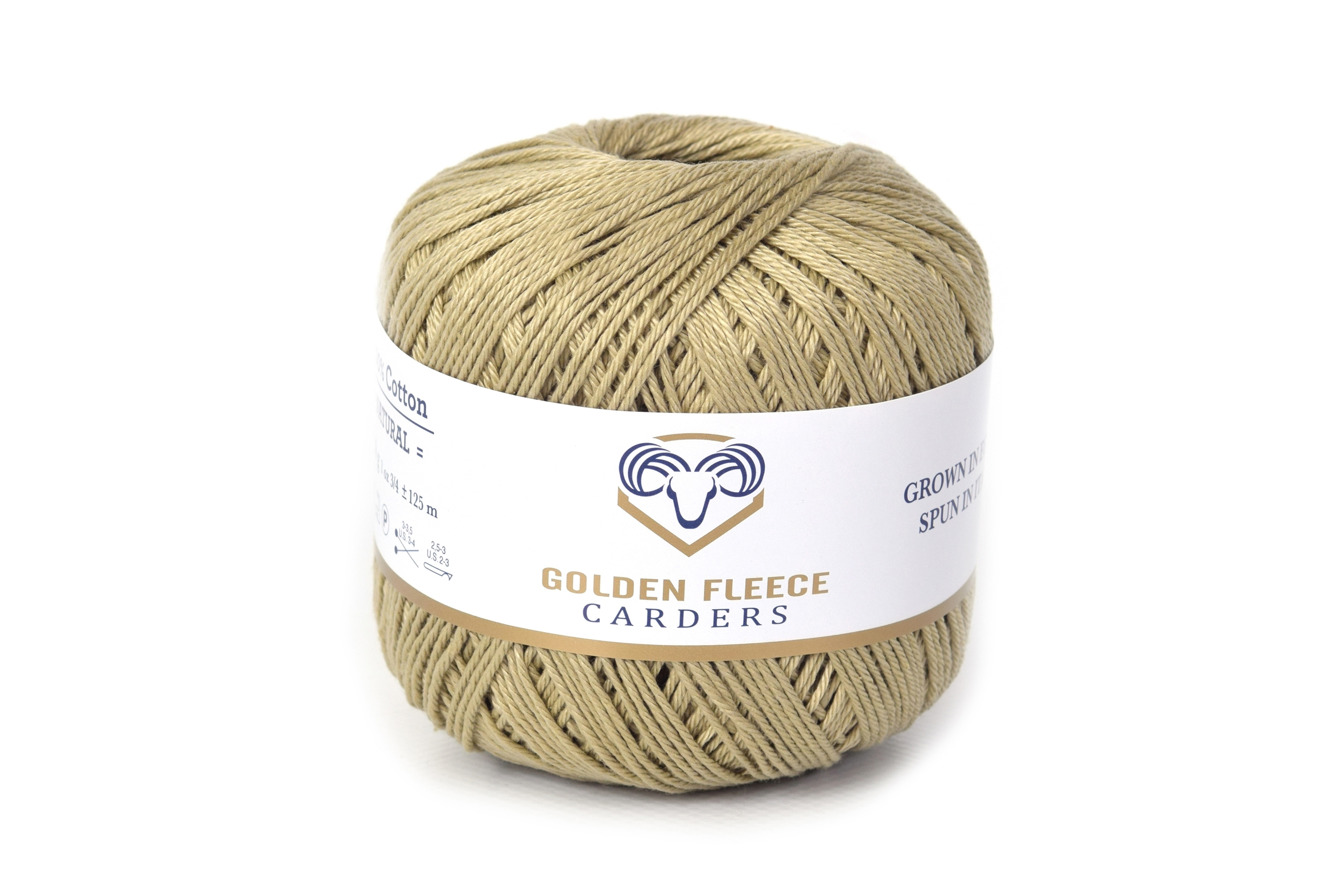 Olive Green - 100% Cotton Yarn - 50 grams