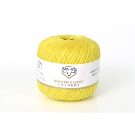 Lemon Yellow - 100% Cotton Yarn - 50 grams