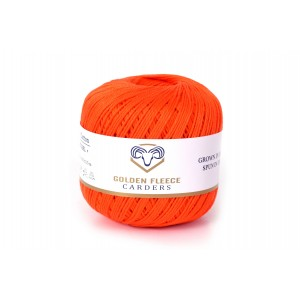 Pumpkin Orange - 100% Cotton Yarn - 50 grams