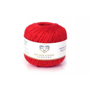 Scarlet Red - 100% Cotton Yarn - 50 grams
